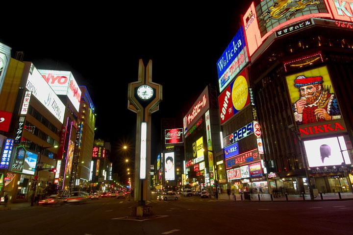 北海道すすきのの夜景