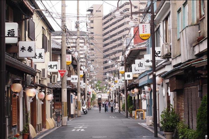 飛田新地の風景